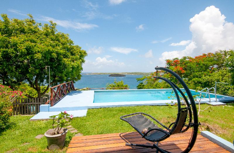 pool overlooking view