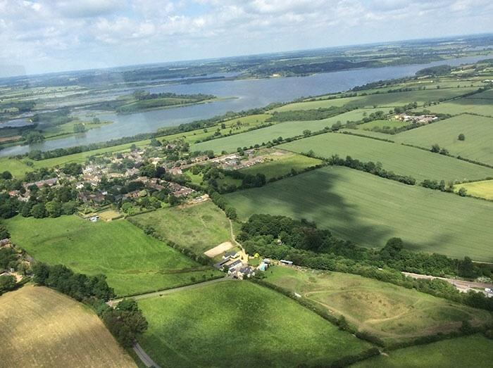 Broccoli Bottom by air with Rutland Water