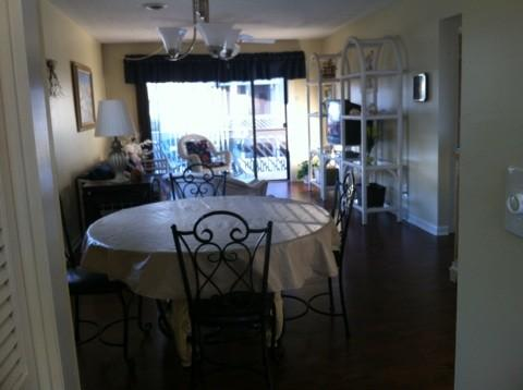 Kitchen, to dining room, to living room, to balcony