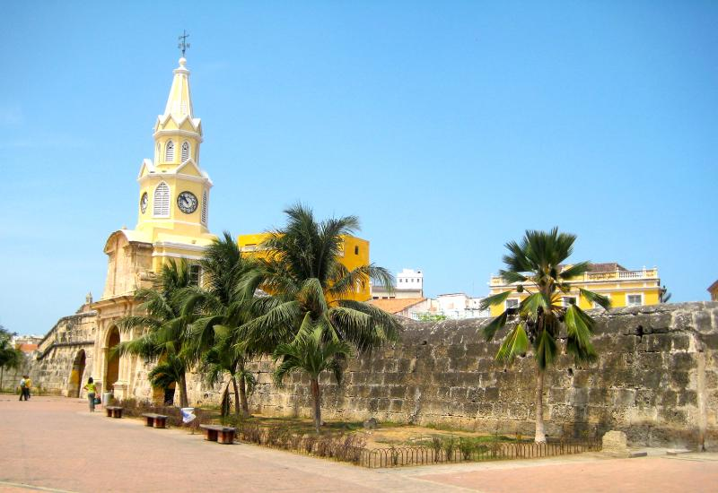 Cartagena's Torre del Reloj, or Clock Tower, just a few minutes stroll from the apartment.