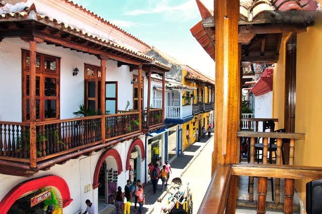 Your view of Calle de la Moneda from the balcony.