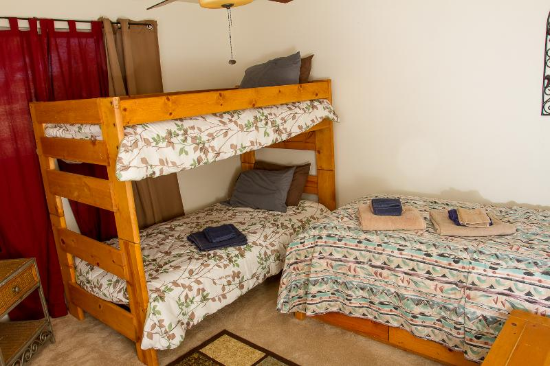 3rd bedroom with 3 twin beds