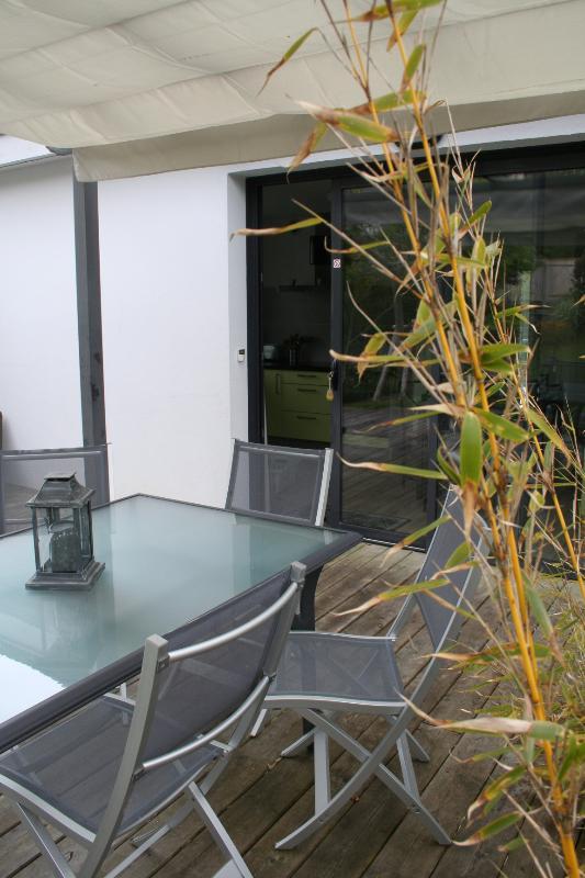 Vue terrasse de l'appartement