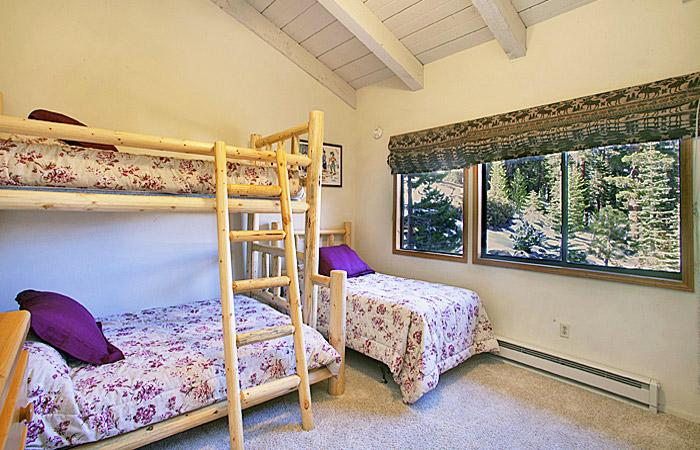 Fourth Bedroom With A Twin/Double Bunk Bed and A Twin Bed