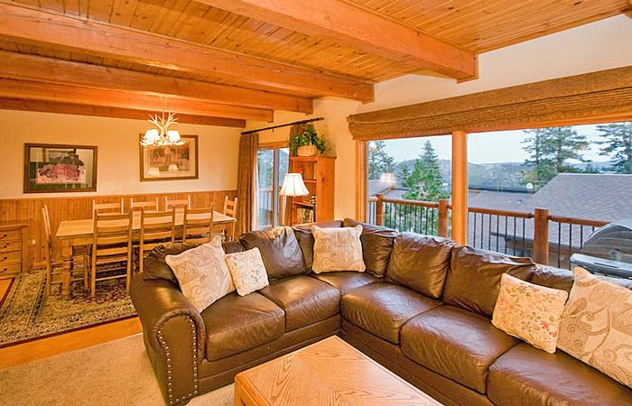 Living/Dining Area with Access to The Private Balcony with BBQ