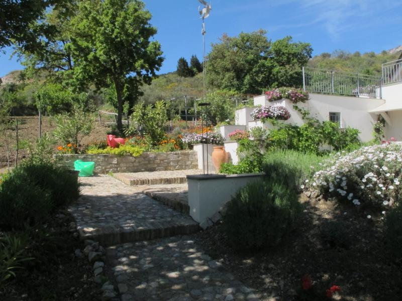 Part of the impressively planted garden