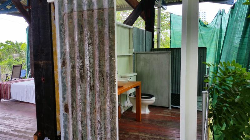 Open plan bathroom
