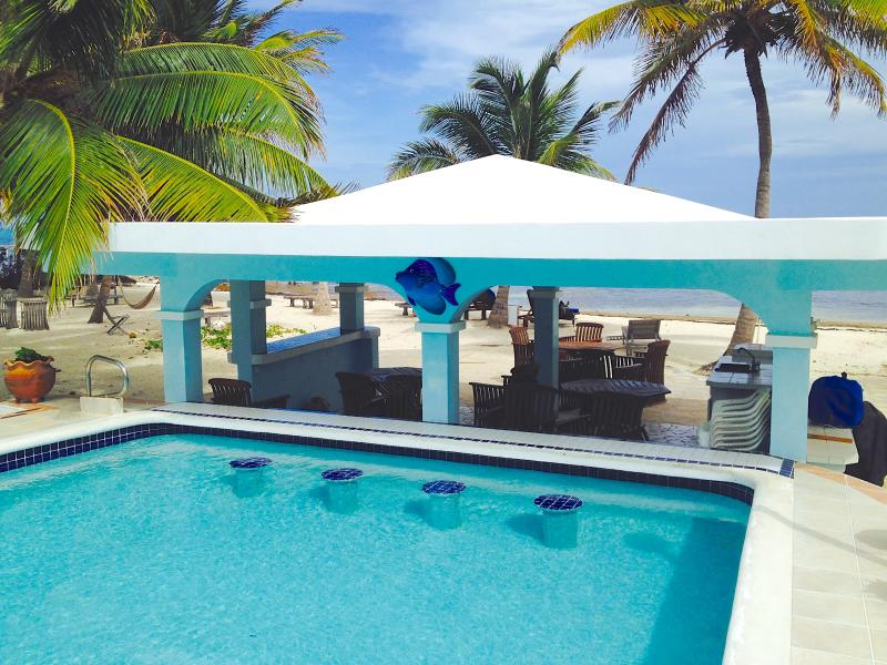Enjoy a tropical drink while on the pool 'bar stools'!
