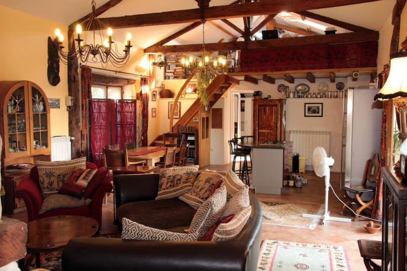 Beautiful open-plan living area & kitchen
