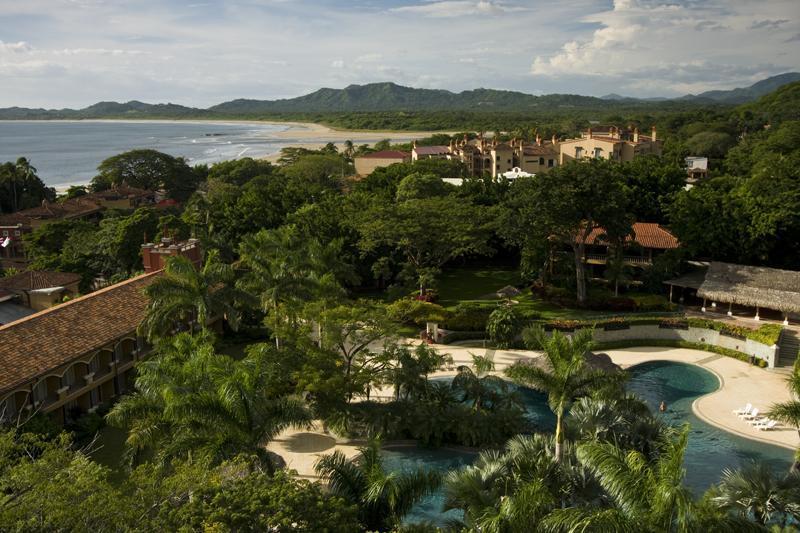 View of the ocean and Diria Resort
