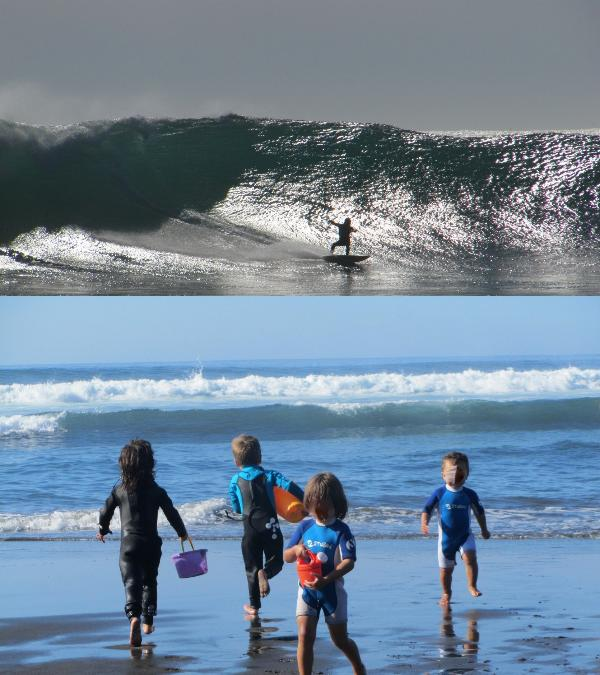 While big kids play among the waves, wanna be surfers play in the beach (same day shots 02/12)