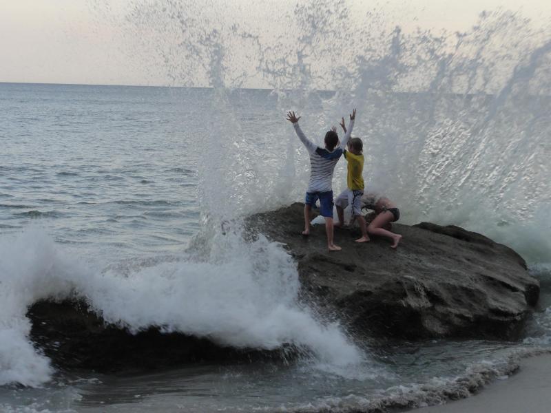 Action on the beach.