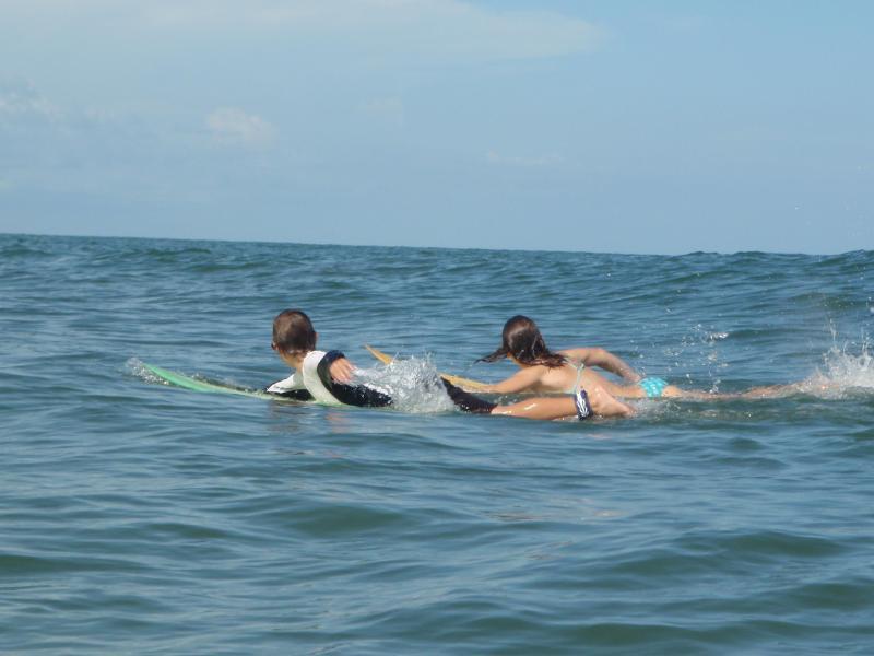 Kids catch a wave
