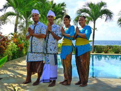 Bali Sea Villas - North Bali. The Villa Staff, we take care of you with maids, gardeners and driver.