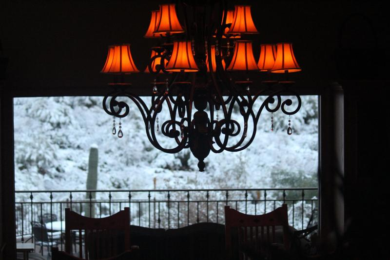 Snow day from dining room