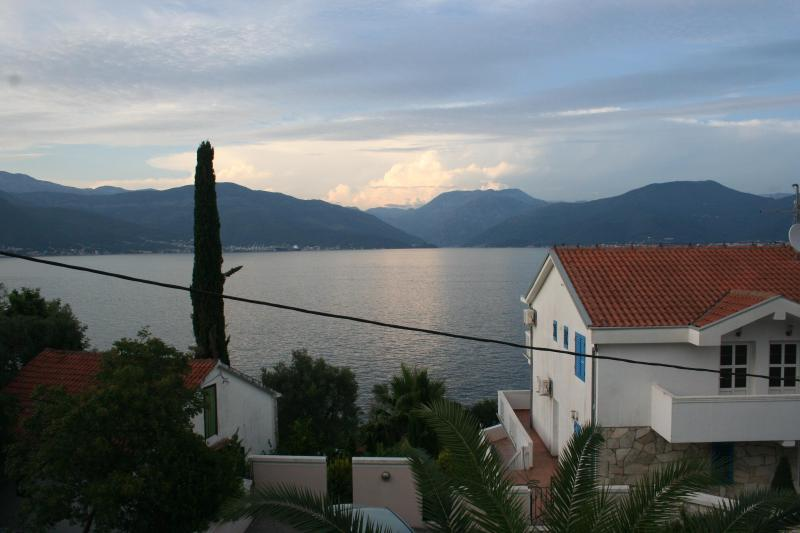 View of Tivat Bay from balcony