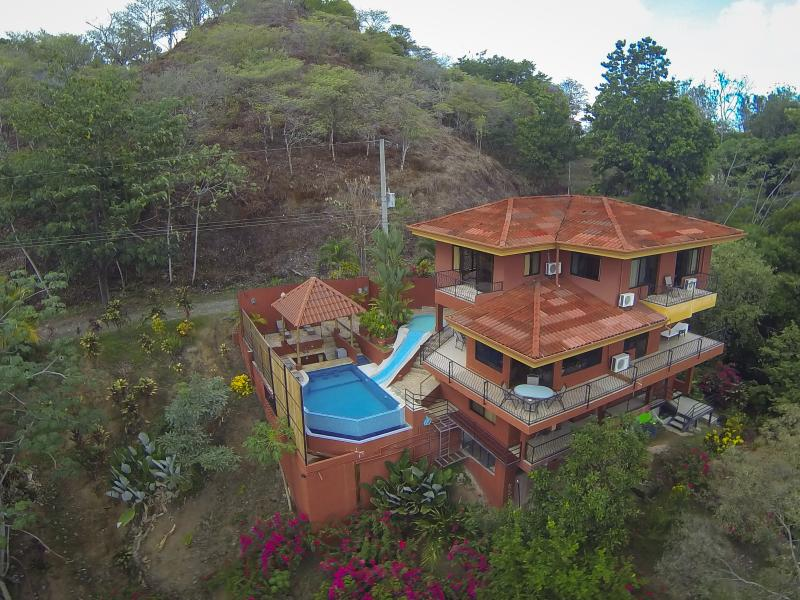Birds-eye view of this deluxe villa