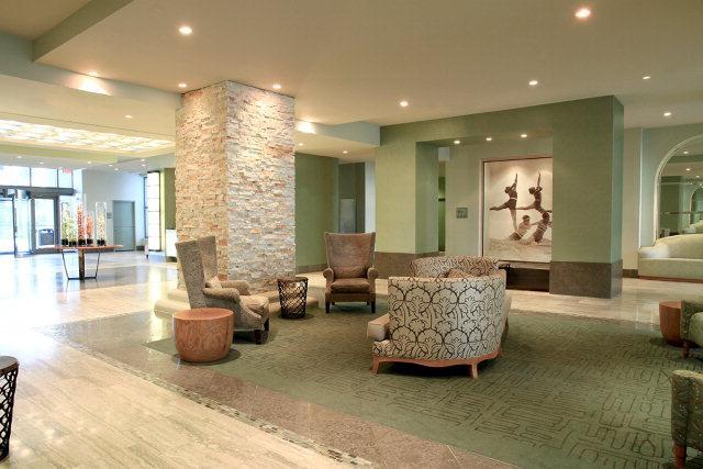 The Sapphire lobby