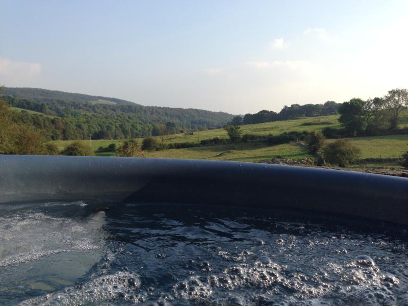 VIEW FROM HENRY HAUNT HOT TUB AT HARTHILL HALL