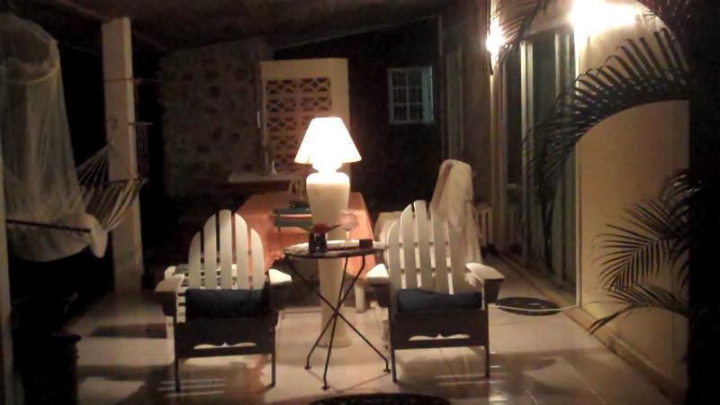 Night time on veranda