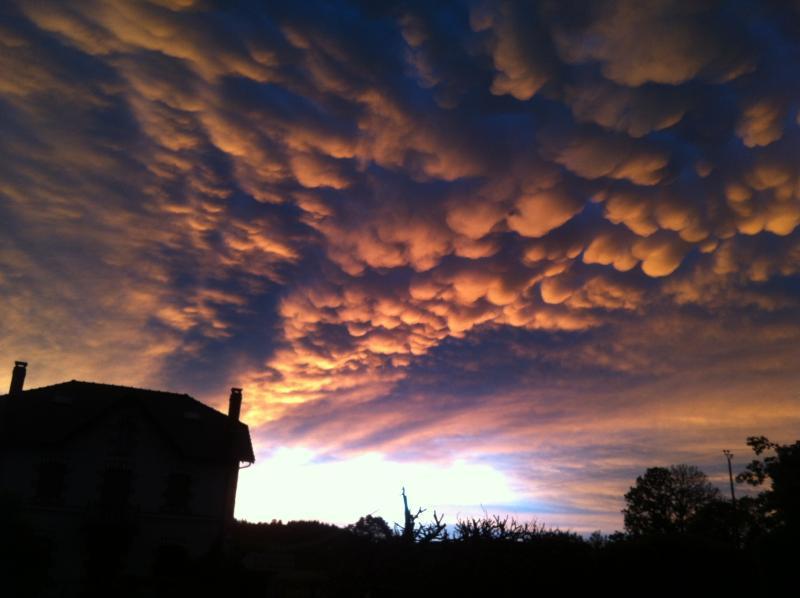 Stunning evening sky over Cheissoux village