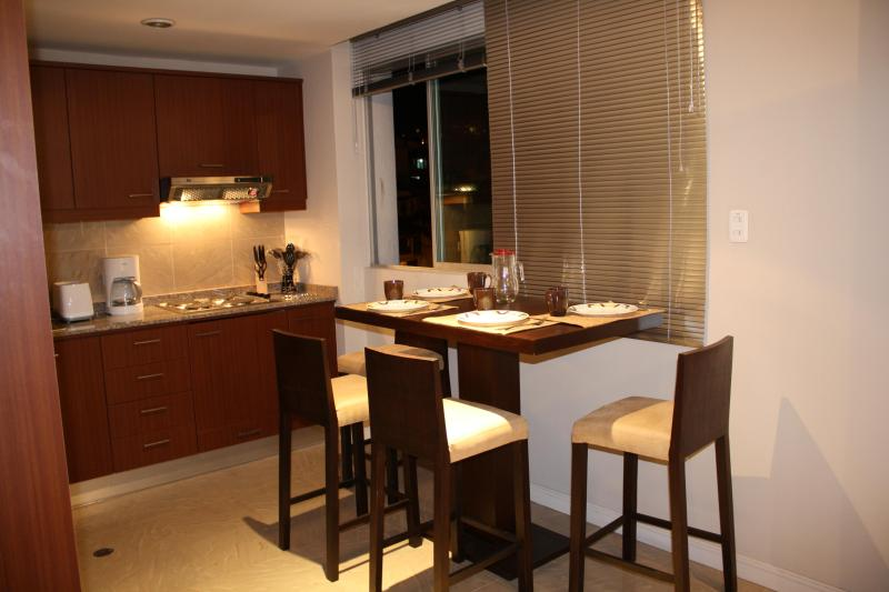 SEATS FOR FOUR.  KITCHEN FULLY FURNISHED