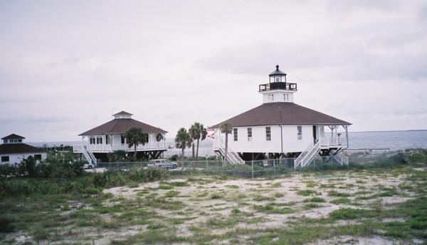 Historic lighthouse at the nearby Boca Grande Island