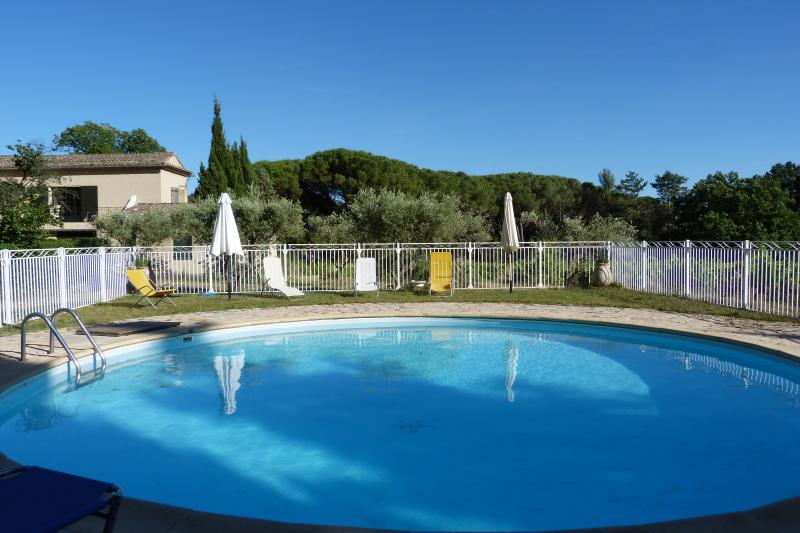 The casteuse pool in Lourmarin in Provence, amidst olive groves and vineyards