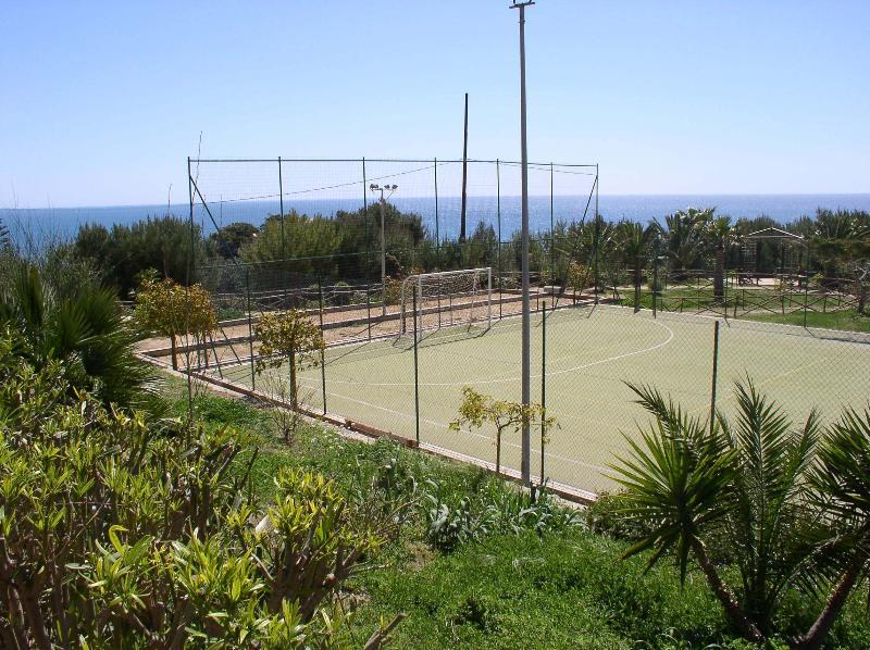 Football tennis-soccer inside the residence