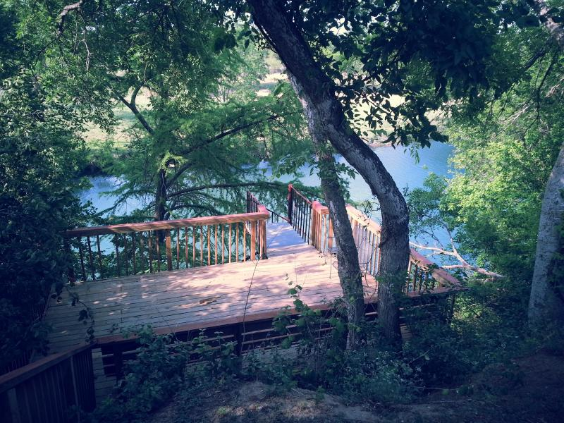 Deck over looking Guadalupe River