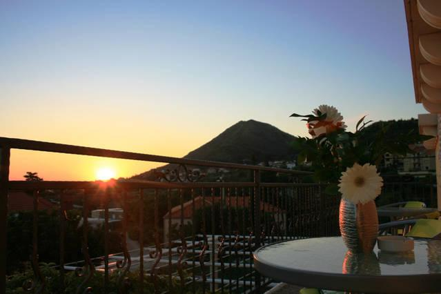 Captivating sunset from our terrace!