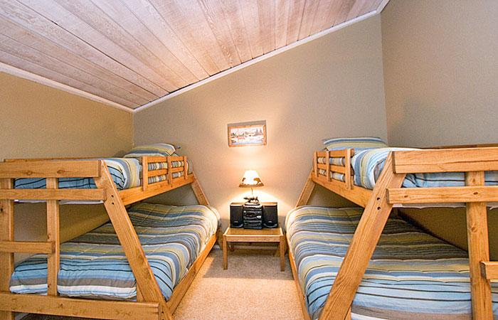 Third Bedroom (Loft) With Two Twin Over Double Bunk Beds