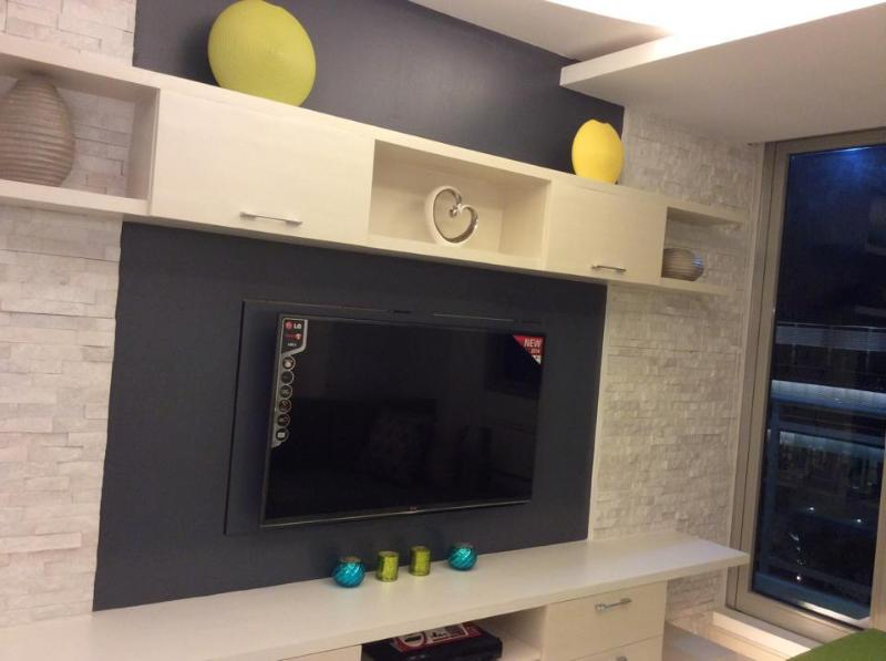 Swivel flat screen TV to face bed or sofa