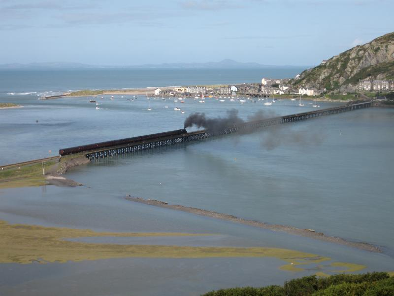 Barmouth Bridge with Train
