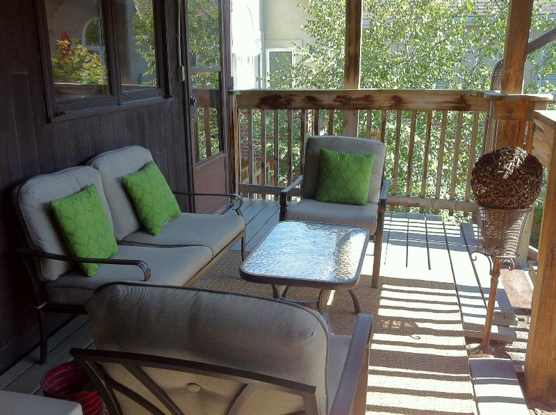 Have your own private balcony to sit outdoors.