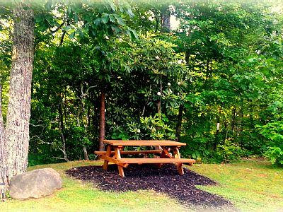 Step into your private picnic area with the National Park as your border