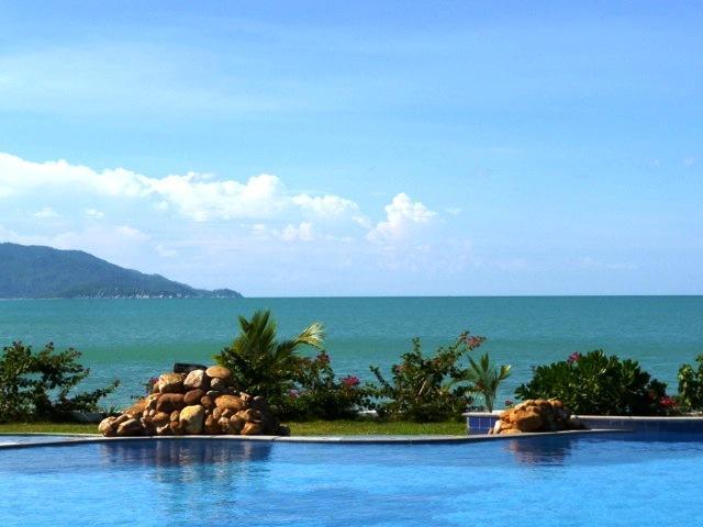 Stunning ocean-side views from the huge communal pool