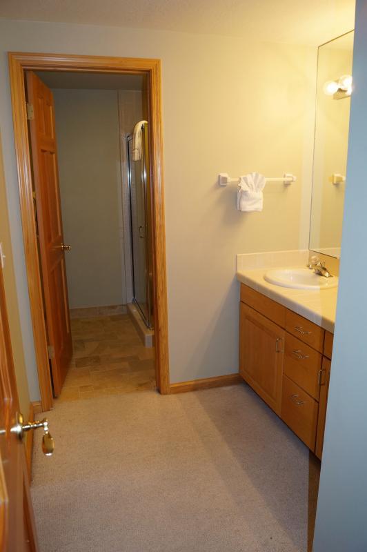 Doble lavabo y ducha en baño 3