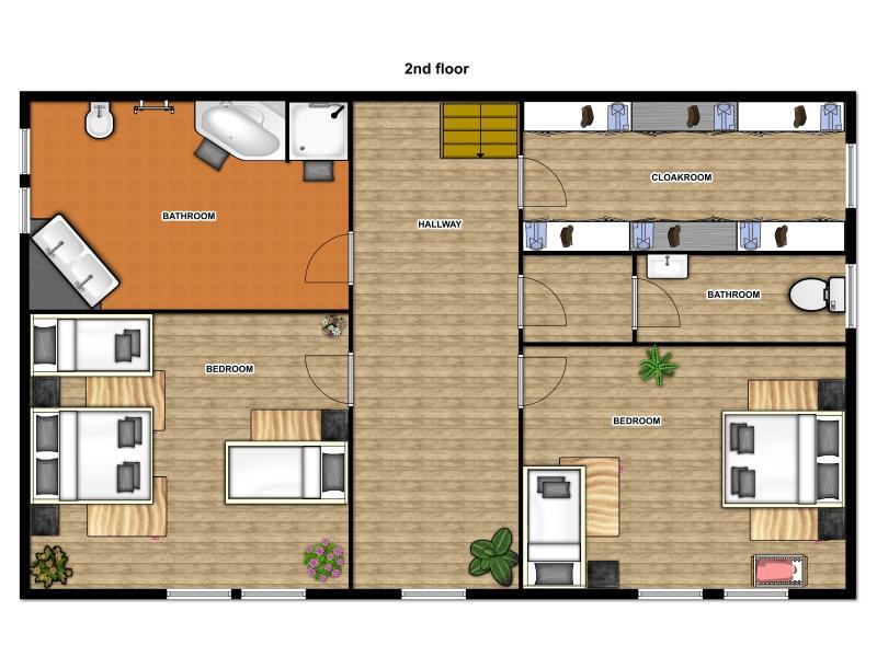 Floor plan second floor - Apartment Attic Josefov - Old Town Square Prague