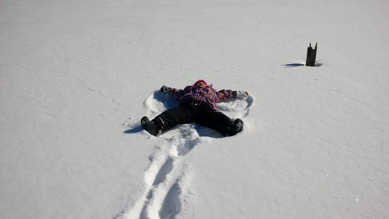 Ahhh! Snow angels on a frozen, snow covered 'Serenity' bay. What a winter wonderland!
