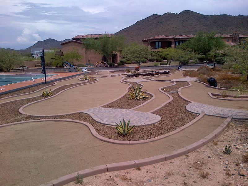 Mini goofy golf in progress. Will be completed in October 2014.