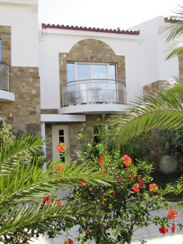 Villa entrance from private courtyard