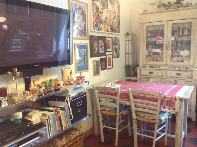 Ampio e luminoso salone, tv al plasma, 4 comodi posti a sedere, divano letto