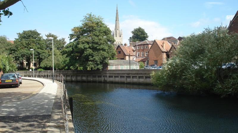 A stone's throw from the river in Norwich