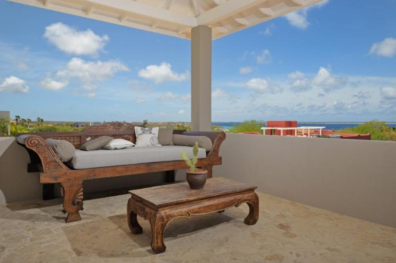 Villa Azure terrace with lounge bed & sea view watch the sunset