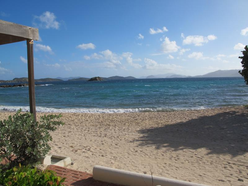 Views off our deck on to the white sand beach
