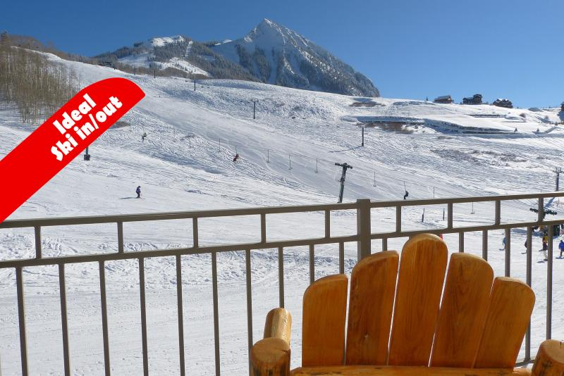 Sunny day from our deck. Ideal ski in / ski out location.