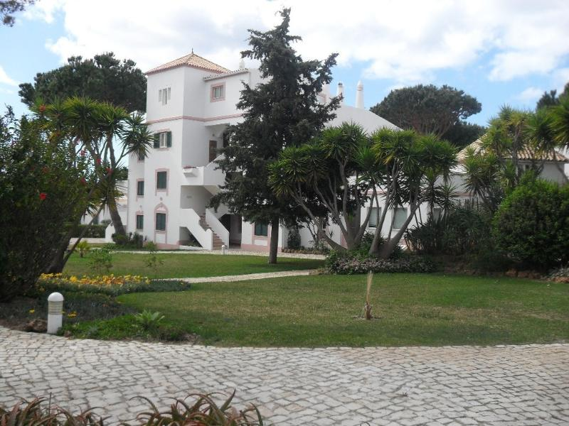 View of apartments and gardens