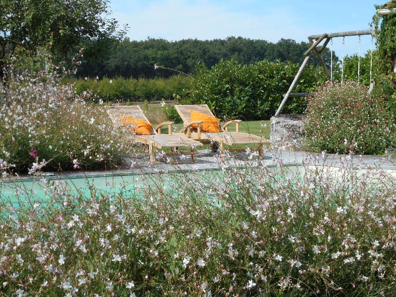 Private solar heated pool in its own pretty secluded garden with wonderful views