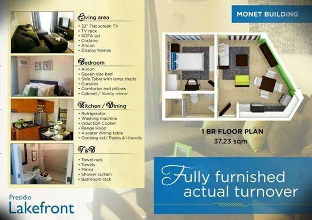 presidio lakefront monet unit, holiday rental in Paranaque